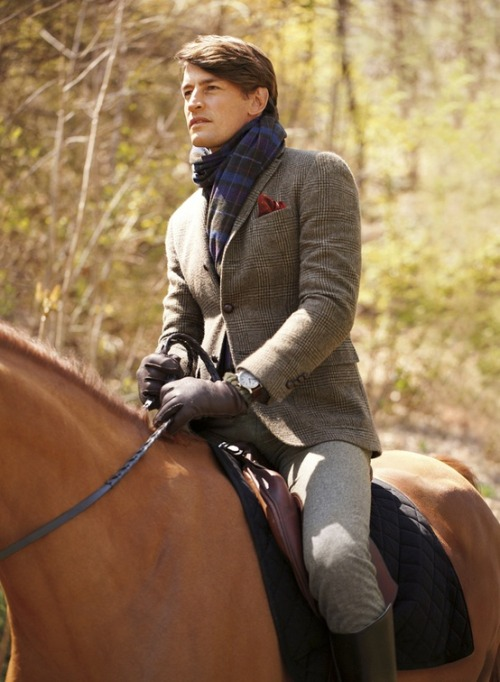 Horseback riding in style with Polo Ralph Lauren.