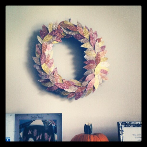 Pinterest glitter wreath success!