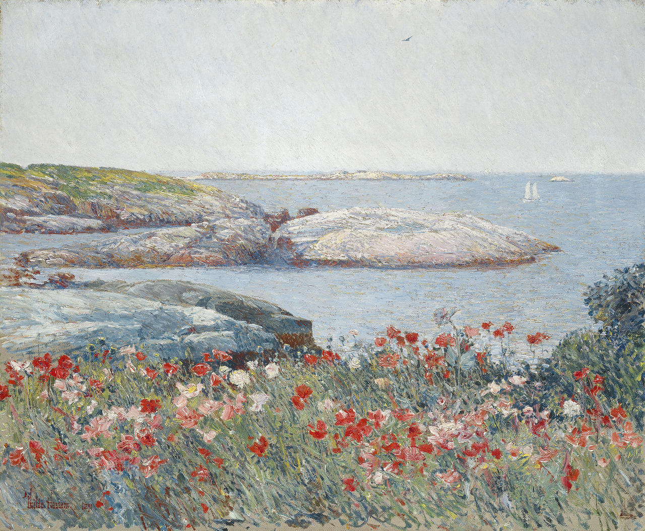 Childe Hassam - Poppies (Poppies, Isles of Shoals), 1891. Oil on canvas