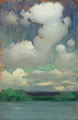 wasbella102:  Lake Balaton with Wreathing Clouds, c. 1905, Vaszary János.