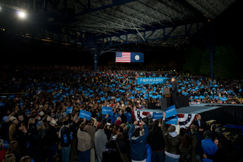 barackobama:  President Obama in Bristow, Virginia last night:   I ran because the voices of the American people—your voices—had been shut out of our democracy for too long by lobbyists and special interests, and politicians who were willing to say anything and do anything just to keep things the way they are—the protectors, the guardians of the status quo. And that status quo in Washington has fought us every step of the way over the last four years. They spent millions of dollars trying to prevent us from reforming health care, millions of dollars trying to prevent us from reforming Wall Street. They engineered a strategy of gridlock in Congress, refusing to compromise on ideas that in the past both Democrats and Republicans had supported. And what they're counting on now is that you're going to be so worn down by all the squabbling, so tired of the dysfunction, so weary of what goes on, on Capitol Hill, that you're just going to give up and walk away—and just put them back in power, or let them stay there. In other words, their bet is on cynicism. But, Virginia, my bet is on you.