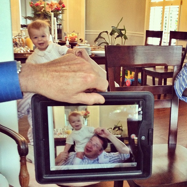 Jack and John through @dcmchenry's lens #family #technology