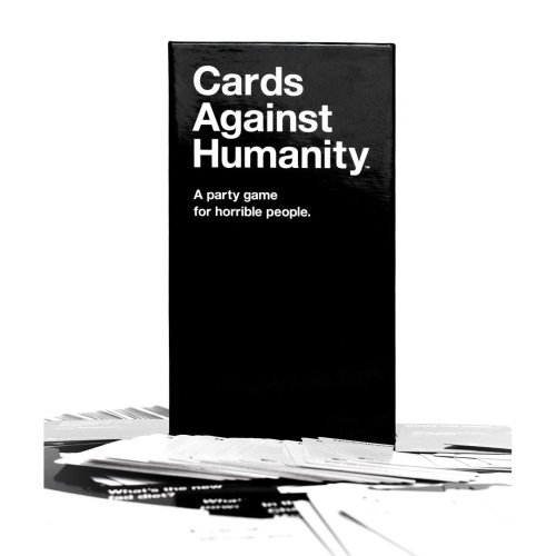"theworstthingsforsale:  Cards Against Humanity is a card game that's like Apples To Apples, but offensive. It's not offensive like ""Ha ha, you wouldn't see that in the newspaper!"" It's offensive like maybe you shouldn't play it with your friends unless you want to hate them. When you're playing Risk, and you start to lose, you go ""Man, fuck this game!"" When the tide shifts in Monopoly and you're paying your friends rent and they're taking all your shit, you say ""Fuck Monopoly, I hate this game!"" But when you play Cards Against Humanity, you look your friends in the eye and say ""Fuck you."" Maybe you already hate your friends, though, in which case, go for it. See the blood vessels in their eyes pop when you pick apart their insecurities and jab at their soft spots, for the low price of $25.  I've played far too many hands of Apples to Apples with excessively innocent and humorless people. I resent those experiences less now that I know this version exists."