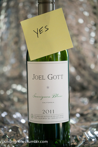 Joel Gott 2011 Sauvignon Blanc from California.  Oh My Yes!