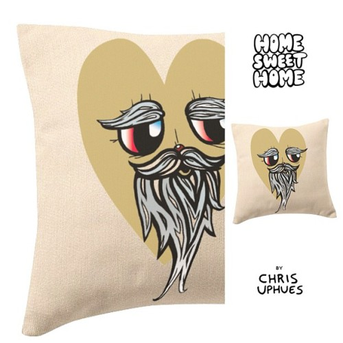 Screenprint pillow from the Home Sweet Home collection… BY CHRIS UPHUES