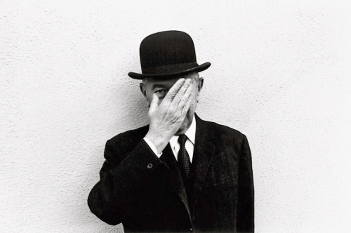 René Magritte, 1965 -by Duane Michals  [+] from Bassenge