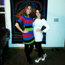 Me and my roommate Gina before the party! <3