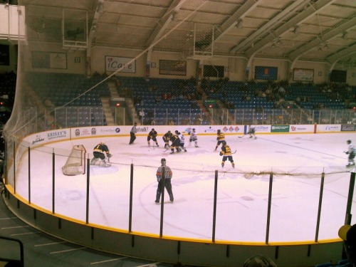 Jr. Blues up 2-1 after the first period.