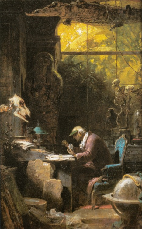 muirgilsdream:  Carl Spitzweg, Scholar of Natural Sciences.