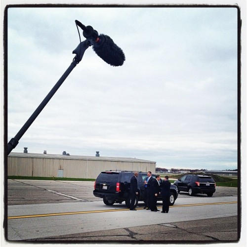 Listening in on the Mitt Romney's U.S. Secret Service detail in Cleveland, OH #mittromney #campaign2012 #gettyimages