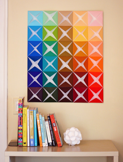 DIY folded paper wall art via How About Orange