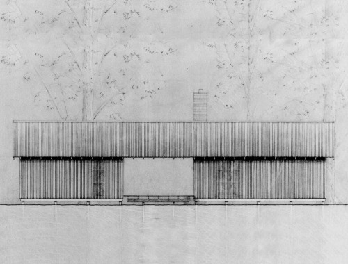 Elevation Zachary House http://www.archdaily.com/282552/the-zachary-house-stephen-atkinson-architecture/
