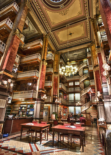 bluepueblo:  Spiral Staircase, Law Library, Des Moines, Iowa photo via doubleday