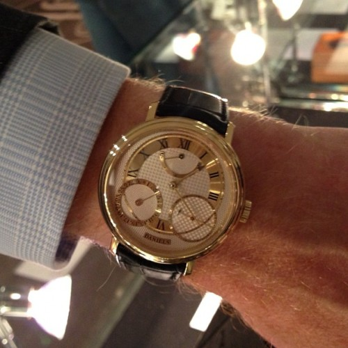 Daniels 35th Anniversary on the wrist of Mr. Roger Smith (at Sotheby's)