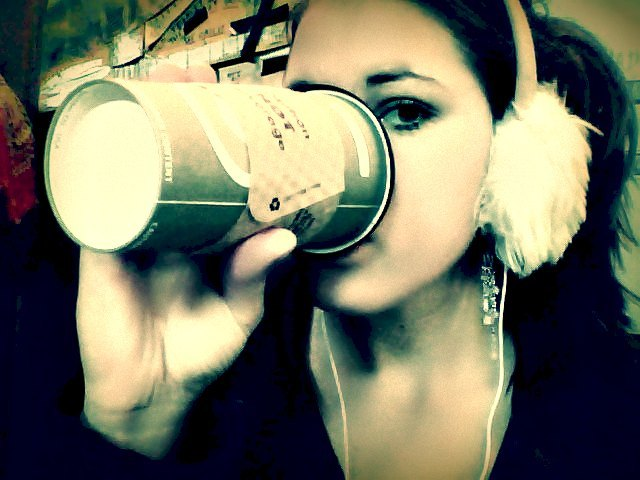 GPOY: Large coffee from Crossroads, my fluffy, earmuff headphones (I'm sure I look ridiculous, and I don't care), lots of reading and thinking, and escaping from the craziness which has been my life lately <3