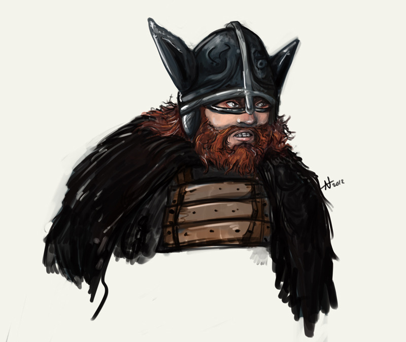 I did a viking Batman as a warm-up sketch. Very little happened after that though.
