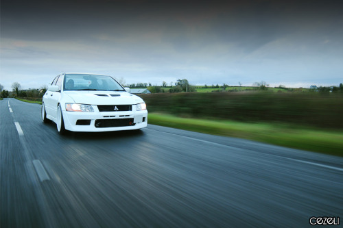 Teaser shot Car: Mitsubishi Lancer Evolution VII RS Location: Co. Fermanagh, UK