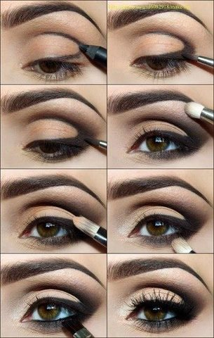 brokecollegestyle:  How to/Nude & black smoky eye