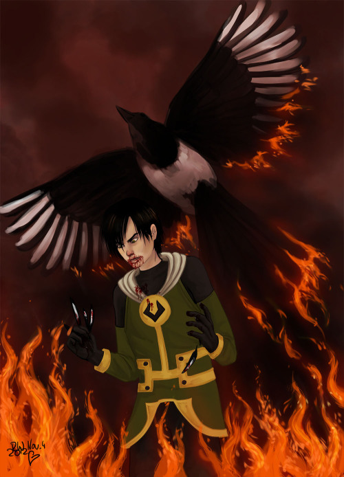 roteronja:   Who told Loki that a magpie can make a good Phoenix ? a construction mistake right from the beginning… this painting cant express how much pain the end of #645 caused me … Kieron Gillen …  i love you  i hate you  - well its complicated