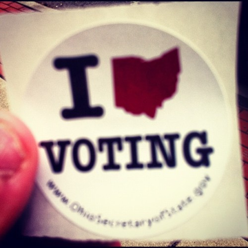 Just voted in Ohio. That equals approximately 10,000 non-swing state votes. #voting (at Paulding County Board of Elections)