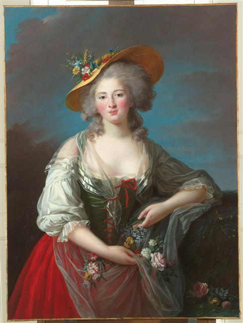 Princess Élisabeth of France by Louise Élisabeth Vigée Le Brun, ca 1782 France, Châteaux de Versailles et de Trianon Click for a huge image