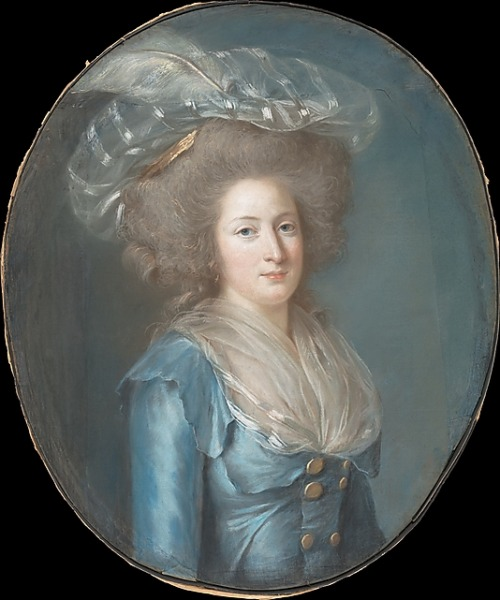 Madame Élisabeth de France (1764–1794) by Adélaïde Labille-Guiard, ca 1787 France, the Metropolitan Museum of Art Click for a huge image
