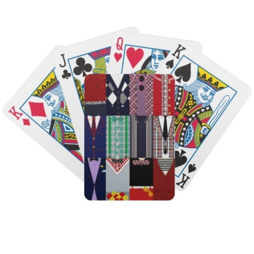 wiseshots:  Play some cards that are covered in dapperness! (via Dapper Playing Cards from Zazzle.com)