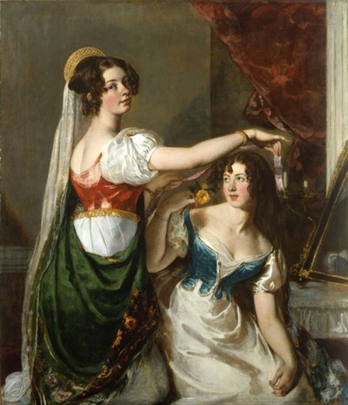 Preparing for a Fancy Dress Ball by William Etty, 1835, York Art Gallery