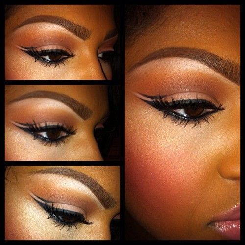 queennubian:  yarrahs-life:  I love this kind of make up…  YES DAMMIT!!!!!