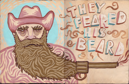 I drawed a cowboy in ma sketchbook. - Jason Stamatyades Prints of this HERE!