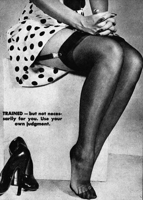 Legs Reveal the Woman Type #6 (Trained) c.1950 detail from an image found here vintage scans