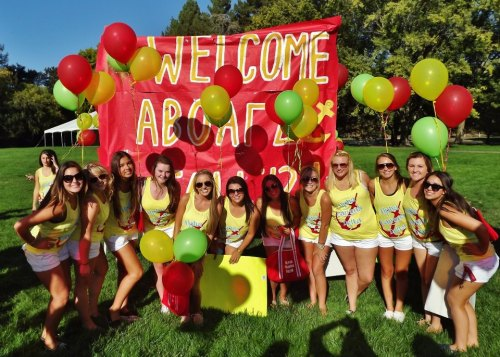 submission from pinkrocksparkle: BID DAY-Sonoma State  WELCOME ABOARD