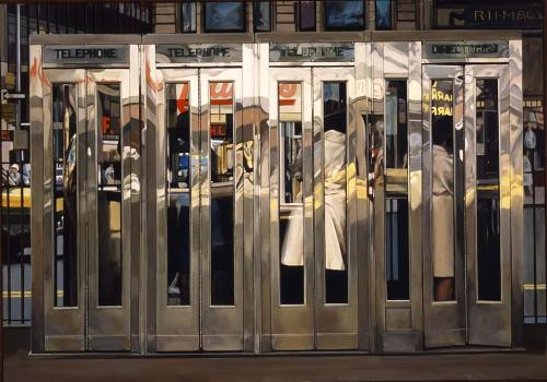 cavetocanvas:  Richard Estes - Telephone Booths (1968)