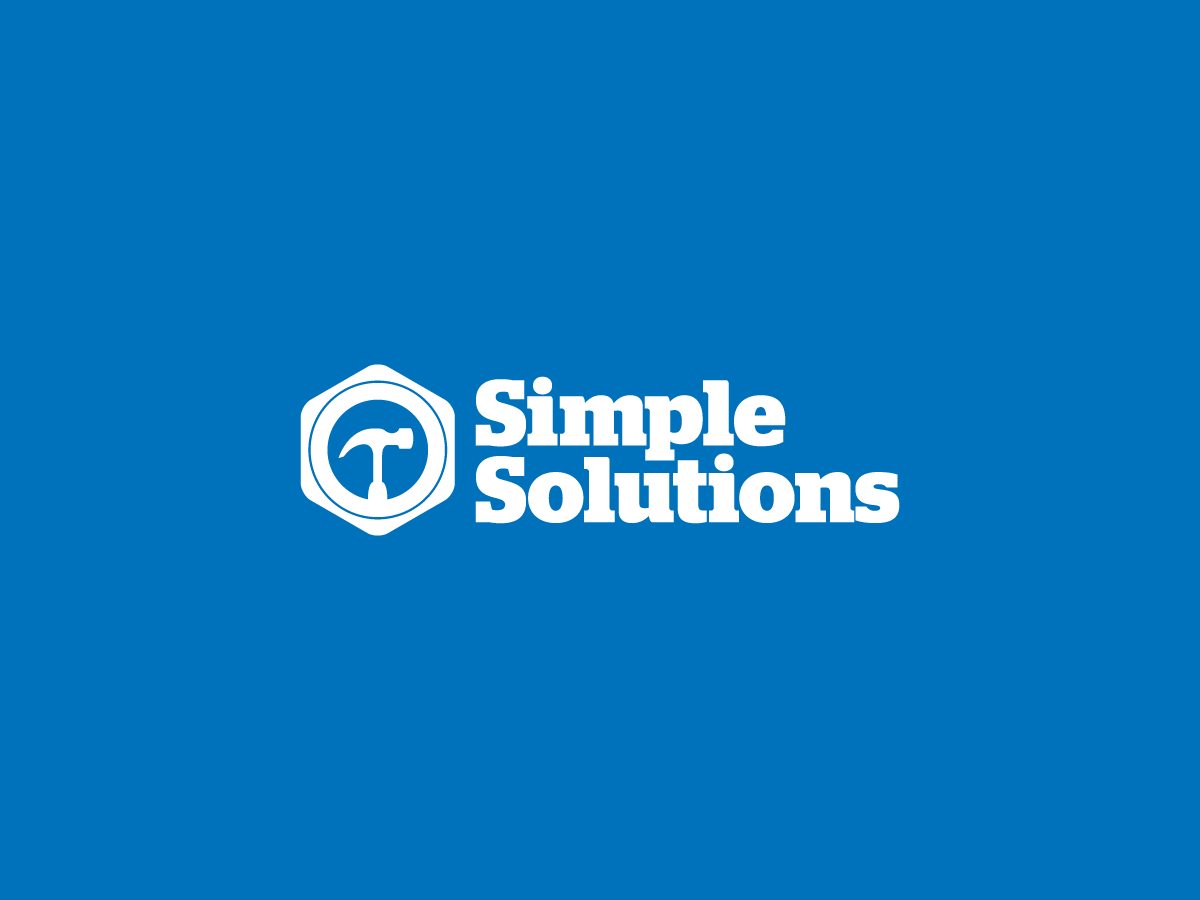 Simple Solutions Logo I collaborated with Indelible Design to create a logo for Simple Solutions, a local home repair company. We came up with this simplistic approach and kept it attuned to the company name itself.