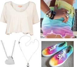 we-sleeptodream:  #49 por pq1direction usando vans  mae scoop neck shirt / Vans / Anchor necklace, $400 / Heart chain necklace, $57