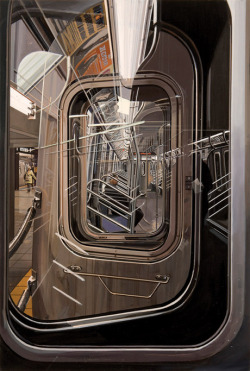 cavetocanvas:  Richard Estes, The L Train, 2009