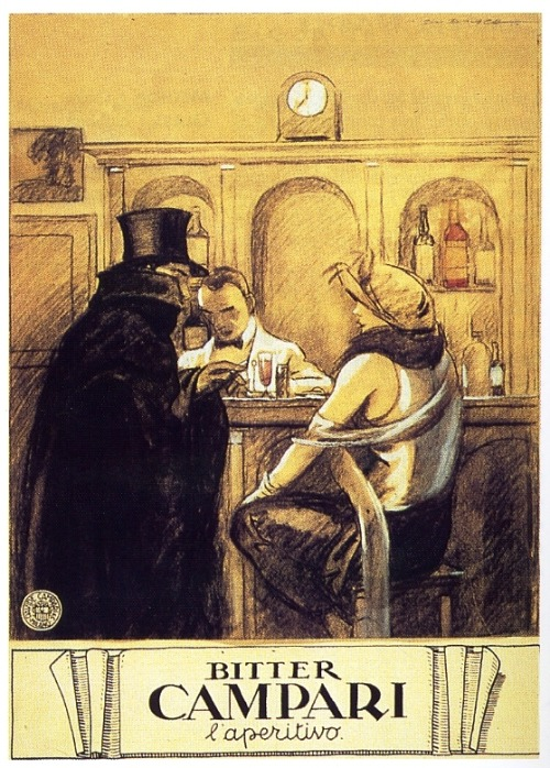an-imbibing-gentleman:  Vintage Campari Ad from the 1920s.