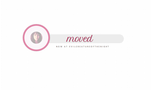 evilcreatureofthenight:  MOVED/NEW URL THEME #03 [live preview] [download]  Very simple theme for moved blogs. All colors are customizable, the picture has a cool transition and is a click-through link to the new url. Do not remove the credit. Do not claim as your own. Do not redistribute. Do not use it as a base without asking me first. And please, LIKE THIS POST if you're taking. Lighter colors will probably look better because of the shadows. Sidebar image must be a square (it will automatically resize). Enjoy!
