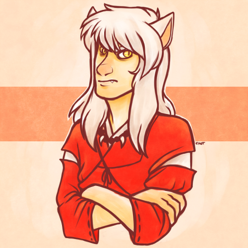 chotpot:  I haven't drawn Inuyasha since I was 13 Nostalgia, ahoy! what a grumpy dogface  reblogging this again because i like it