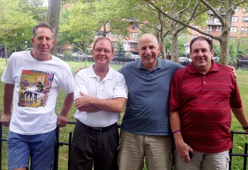 "More than 50 years ago, I met these three other guys in the Monroe Houses and we still see each other from time to time. Those were great years. I've written about most of them in my book ""Leaving Story Avenue, my journey from the projects to the front page."" I'll never forget these guys…."
