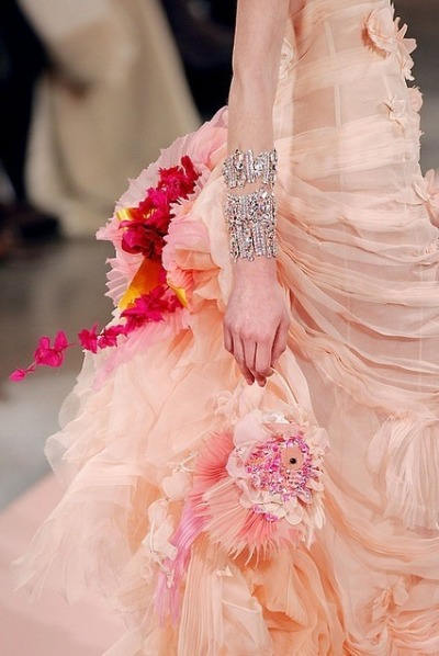 londonwarrior:  Creamsicle Couture, courtesy of Christian Lacroix