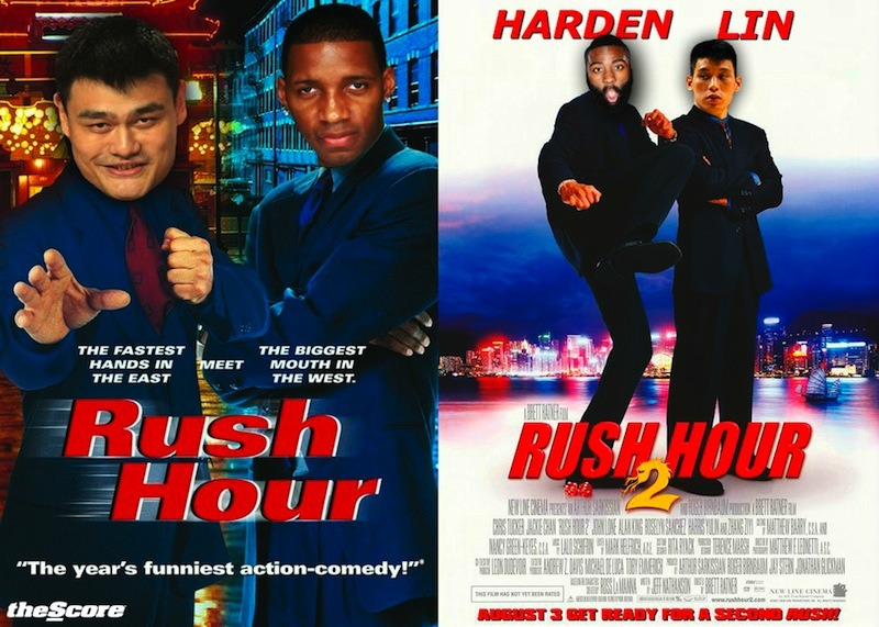Rush Hour 2: Starring The Beard & Linsanity. (Photo)