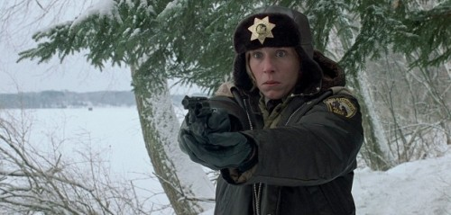 #21: Fargo The Coen brothers' first breakout hit crystallizes all their strengths as writers and directors: The diamond-sharp plotting, the unparalleled gift for stylized language (in this case, the quotable dialect of native Minnesotans), the exacting control over every aspect of the production. What makes Fargospecial, beyond the Coens working at the peak of their craft, is that it considers the crime thriller in moral terms, turning the bloody mayhem over a scheme gone wrong into a reflection on the bedrock values of home and family. The Coens sharply contrast the desires and temperaments of its two main characters: a car salesman (William H. Macy) who arranges to have his wife kidnapped to bilk ransom money out of his wealthy father-in-law, and a pregnant police chief (Frances McDormand) who waddles her way to the bottom of the case. In McDormand's steady gumshoe, Fargo has an unforgettable hero who can piece together the clues without comprehending the crime.  (via The 50 best films of the '90s (2 of 3) | Film | Best of | The A.V. Club)
