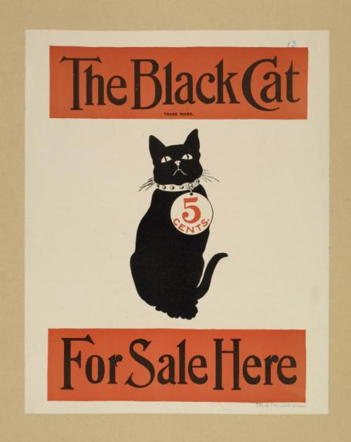 The Black Cat 1896? (poster advertising the magazine)