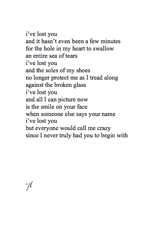 tigerlilylily:  connotativewords:  November 04, 2012 i've lost you and yet i still choose to love you  this just made me actually start crying oh my god im such emo