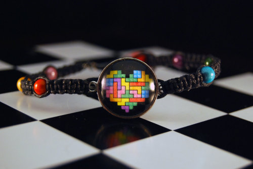 pacalin:  Tetris Love Bracelet Created by Subtle Nerd Available for $20 USD at Etsy.