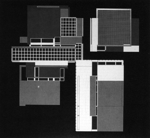 archiveofaffinities:  Peter Eisenman, House X, Plan, 1979