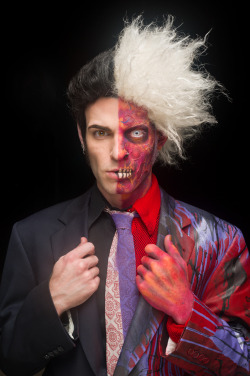 ‎Austin Tatious as Two-Face in Bang Bang does Halloween.Photographer: Dan MooreMUA/Hair/stylist: Austin Tatious www.flashpointcollective.com