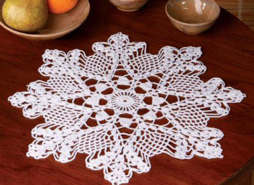 thread crochet doily.