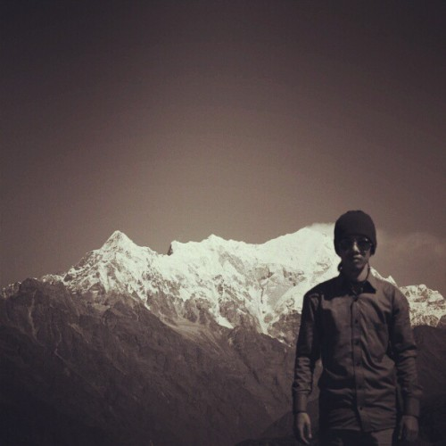 That's Mt. Langtang just behind me :D #mountain #nepal #instamood #nature #travel #trekking #photography #webstagram #instalike #photography